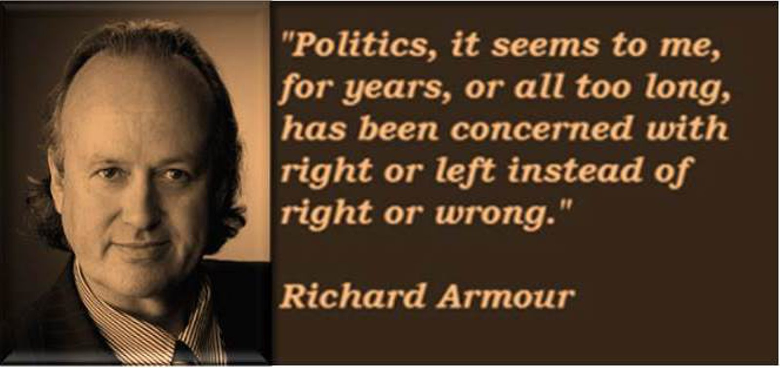 Richard Armour about left and right